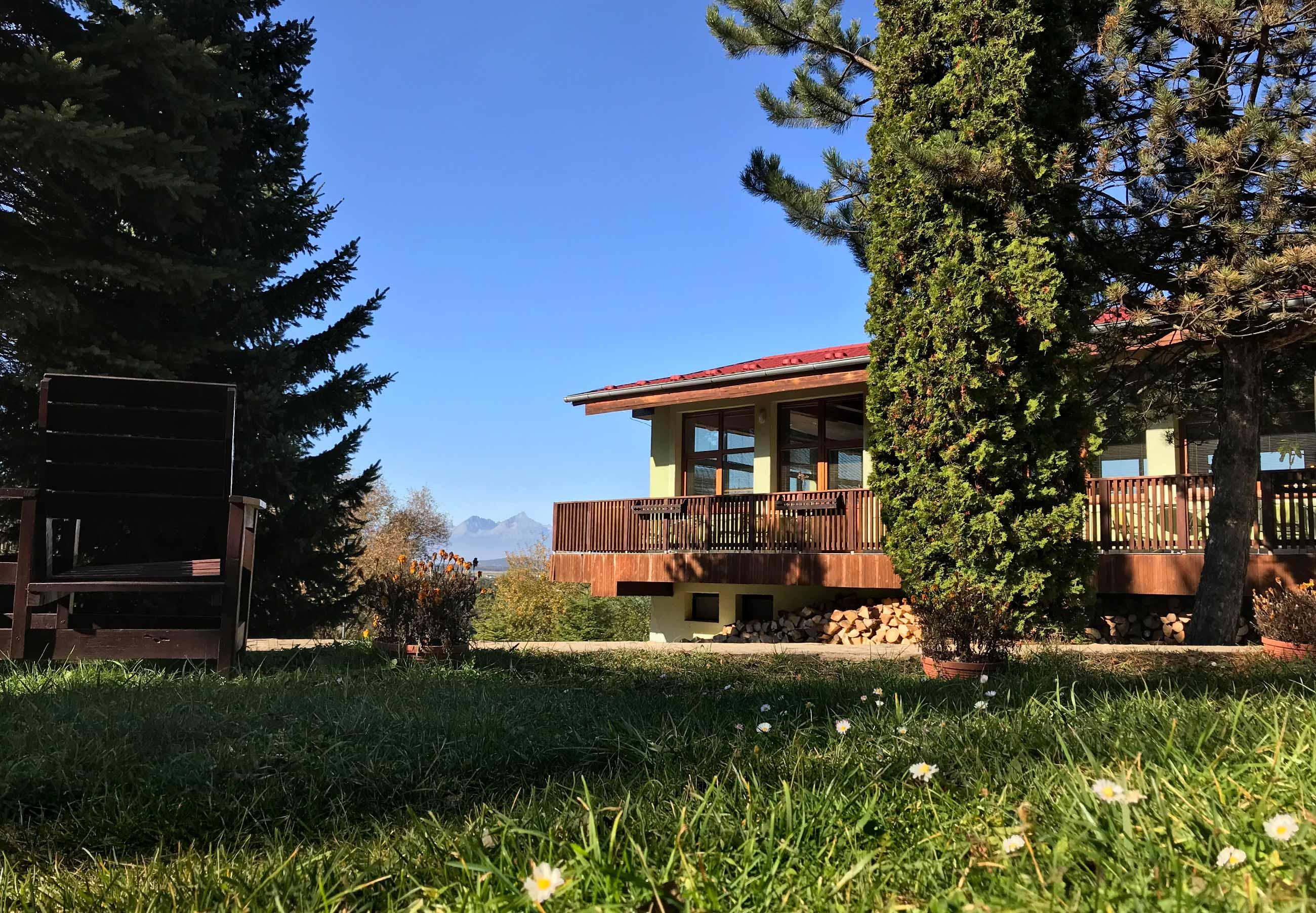 PARKHOTEL Čingov - výhľad na Tatry